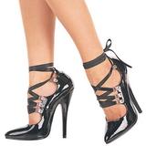 Sort 15 cm DOMINA-456 damesko med høj hæl