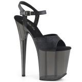 Sort 20 cm FLAMINGO-809T Akryl plateau high heels sko