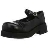Sort 5 cm CRUX-07 lolita sko gothic dame plateausko med tykke såler