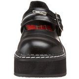 Sort 5 cm EMILY-306 lolita sko gothic dame plateausko med tykke såler
