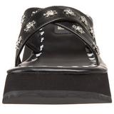 Sort 6,5 cm FLIP-05 Plateau Gothic Flip Flops til Dame