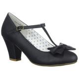 Sort 6,5 cm WIGGLE-50 Pinup pumps sko med blokhæl