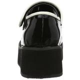 Sort 6 cm SPRITE-01 lolita sko gothic plateausko med tykke såler