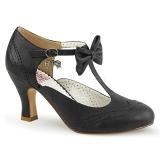 Sort 7,5 cm FLAPPER-11 Pinup pumps sko med lave hæle