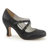 Sort 7,5 cm FLAPPER-35 Pinup pumps sko med lave hæle