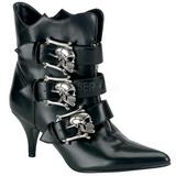 Sort 7 cm DEMONIA FURY-06 Gothic Ankelstøvler Dame