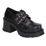 Sort 7 cm TRUMP-101 lolita sko gothic dame plateausko med tykke såler