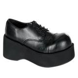 Sort 8,5 cm DANK-101 lolita sko gothic dame plateausko med tykke såler