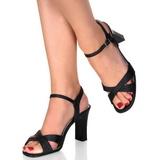 Sort 8,5 cm ROMANCE-313 højhælet sko til kvinder