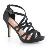 Sort 9,5 cm DAPHNE-42 Sandaler med stiletter hæle