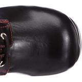 Sort 9,5 cm GOTHIKA-101 lolita ankelstøvler gothic plateau tykke såler