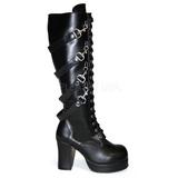 Sort 9,5 cm GOTHIKA-209 lolita støvler gothic plateau tykke såler
