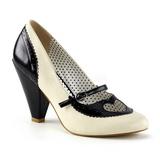 Sort 9,5 cm POPPY-18 Pinup pumps sko med lave hæle
