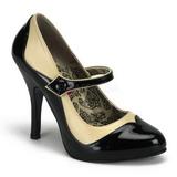 Sort Beige 11,5 cm rockabilly TEMPT-07 damesko med høj hæl