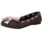 Sort DAISY-20 gothic ballerina sko med flade hæle