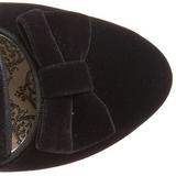 Sort Fløjl 6,5 cm BORDELLO WHIMSEY-115 Ankelstøvler