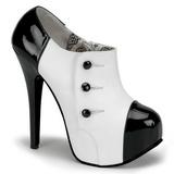 Sort Hvid 14,5 cm Burlesque TEEZE-20 damesko med høj hæl