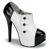 Sort Hvid 14,5 cm TEEZE-20 damesko med høj hæl
