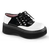 Sort Hvid 5 cm EMILY-303 lolita sko gothic plateausko tykke såler