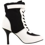 Sort Hvid 9,5 cm REFEREE-125 Dame Ankelstøvler