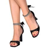 Sort Krystal 8,5 cm ROMANCE-372 højhælet sko til kvinder
