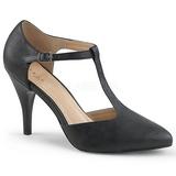 Sort Kunstlæder 10 cm DREAM-425 store størrelser pumps sko