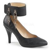 Sort Kunstlæder 10 cm DREAM-432 store størrelser pumps sko
