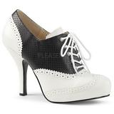 Sort Kunstlæder 11,5 cm PINUP-07 store størrelser oxford sko