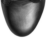 Sort Kunstlæder 15,5 cm DELIGHT-1020 Plateau Ankelstøvler