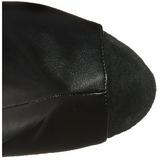 Sort Kunstlæder 18 cm ADORE-1019 ankelstøvler til damer med frynser