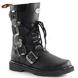 Sort Kunstlæder DEFIANT-306 Støvler til Mænd med spenner