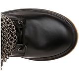 Sort Kunstlæder DEFIANT-402 Støvler til Mænd med spenner