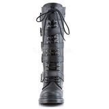 Sort Kunstlæder DEFIANT-420 Støvler til Mænd med spenner
