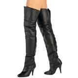 Sort Læder 10,5 cm LEGEND-8868 overknee støvler med hæl til Mænd