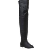 Sort Læder 4 cm MAVERICK-8824 overknee støvler med hæl til Mænd