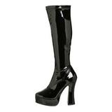Sort Lak 13 cm ELECTRA-2000Z Plateaustøvler til kvinder