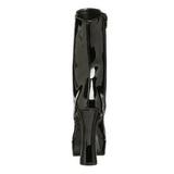 Sort Lak 13 cm Pleaser ELECTRA-1020 Plateau Ankelstøvler