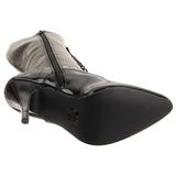 Sort Lak 13 cm SEDUCE-2020 Damestøvler med Snøre