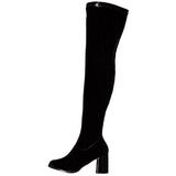 Sort Lak 8 cm GOGO-3000 overknee støvler til dame