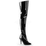 Sort Lakeret 10,5 cm VANITY-3010 overknee støvler med hæl til Mænd