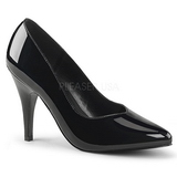 Sort Lakeret 10 cm DREAM-420 Dame Pumps Flade Hæle
