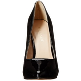 Sort Lakeret 13 cm AMUSE-20 Dame Pumps Stilethæle Sko