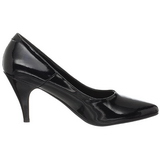 Sort Lakeret 7,5 cm PUMP-420 klassisk pumps sko til damer