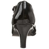 Sort Lakeret 8 cm DIVINE-440 dame pumps med lave hæl
