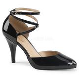 Sort Laklæder 10 cm DREAM-408 store størrelser pumps sko