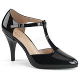 Sort Laklæder 10 cm DREAM-425 store størrelser pumps sko