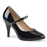 Sort Laklæder 10 cm DREAM-428 store størrelser pumps sko