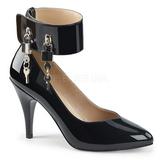 Sort Laklæder 10 cm DREAM-432 store størrelser pumps sko