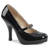Sort Laklæder 11,5 cm PINUP-01 store størrelser pumps sko