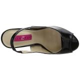 Sort Laklæder 12,5 cm EVE-04 store størrelser sandaler dame